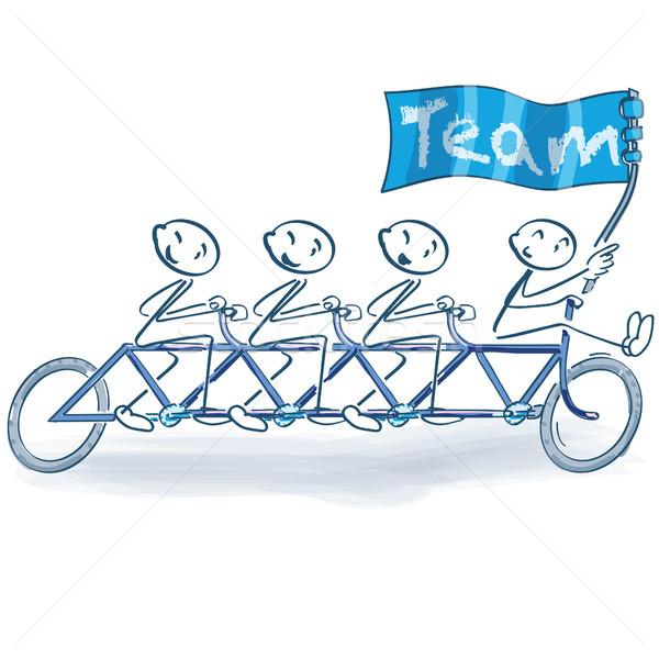 Stick fiets vlag team fitness fiets Stockfoto © Ustofre9
