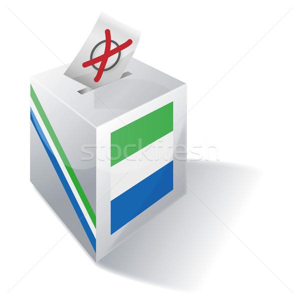Ballot box Sierra Leone Stock photo © Ustofre9