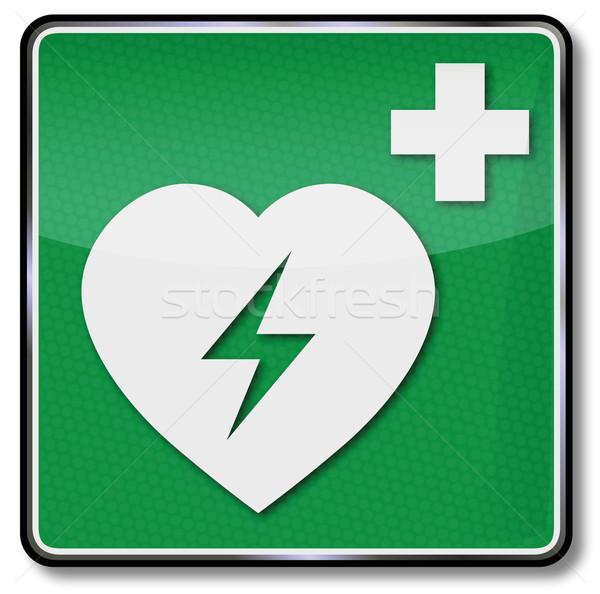 Fuoco sicurezza segno attacco di cuore pronto soccorso cuore Foto d'archivio © Ustofre9