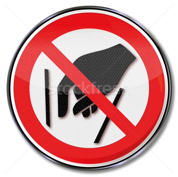 Prohibition sign to reach inside is forbidden  Stock photo © Ustofre9