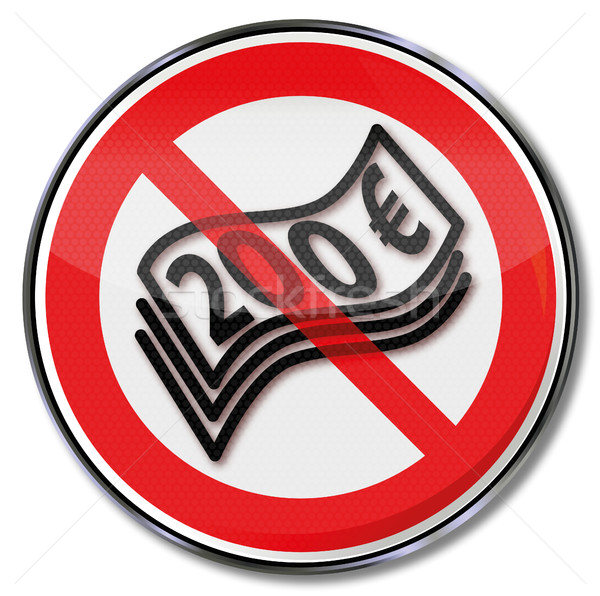 Prohibition sign for 200 euro notes Stock photo © Ustofre9
