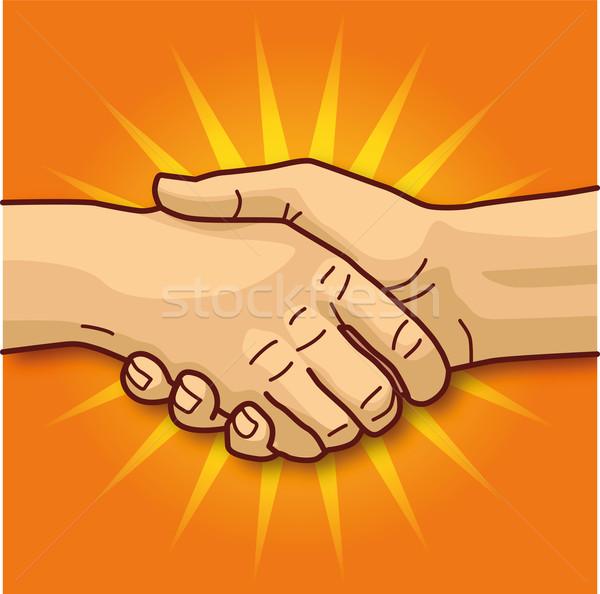 Handshaking Stock photo © Ustofre9