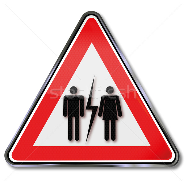 Sign divorce and suffer Stock photo © Ustofre9
