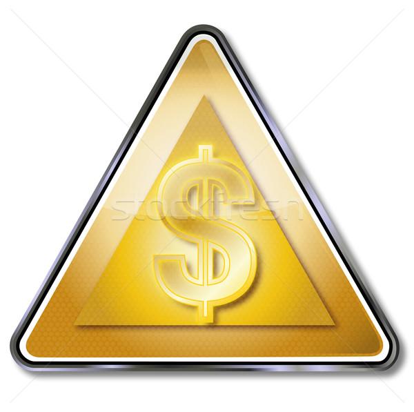 Gouden dollarteken geld straat metaal teken Stockfoto © Ustofre9