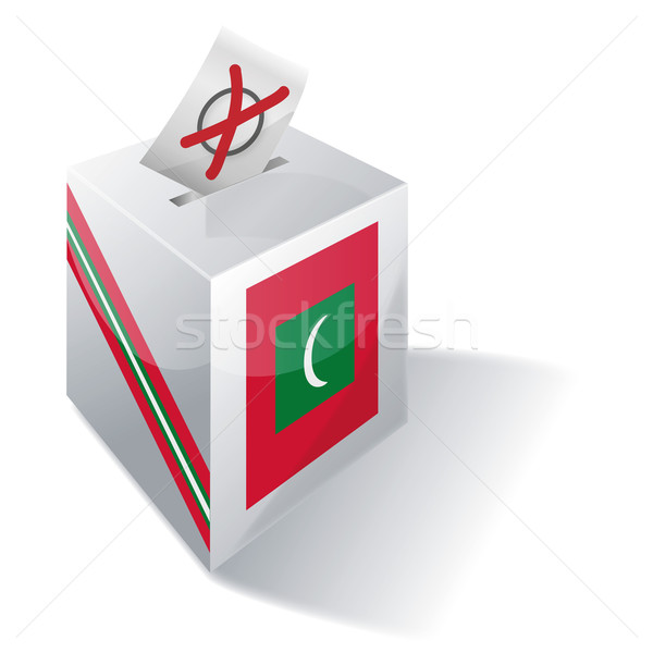 Ballot box Maldives Stock photo © Ustofre9