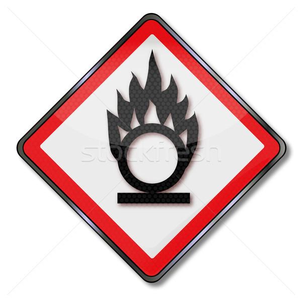 Danger sign oxidizing and oxidizing agents  Stock photo © Ustofre9