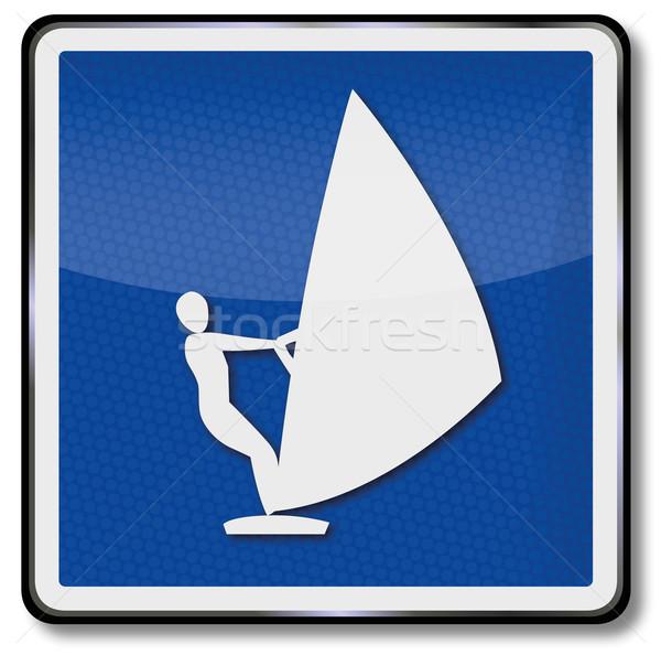 Navigációs osztályzat windszörf víz csónak jókedv Stock fotó © Ustofre9