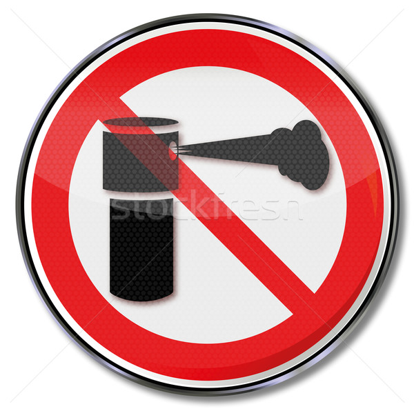 Prohibition sign for pepper spray Stock photo © Ustofre9