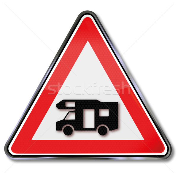 Traffic sign caravan, motorhome and camping Stock photo © Ustofre9