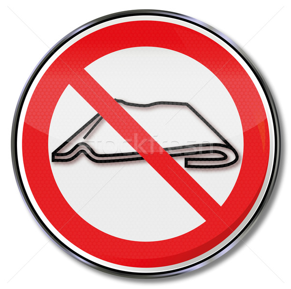 Stock photo: Prohibition sign do not fold or slide together