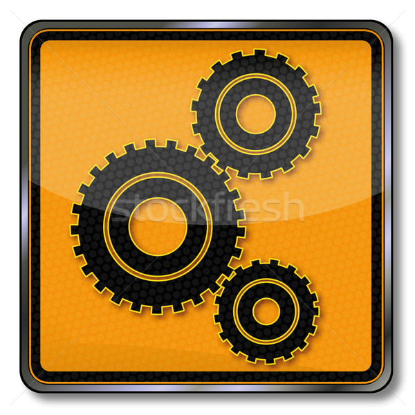 Plate gears and mechanical engineering  Stock photo © Ustofre9