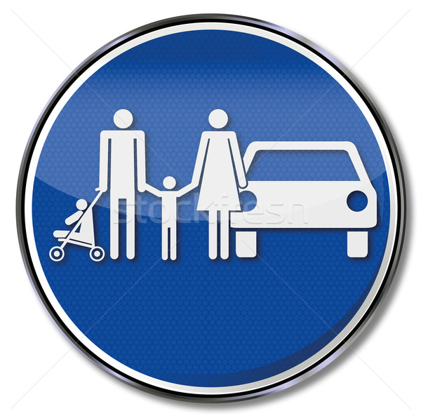 Traffic sign family and family park place  Stock photo © Ustofre9