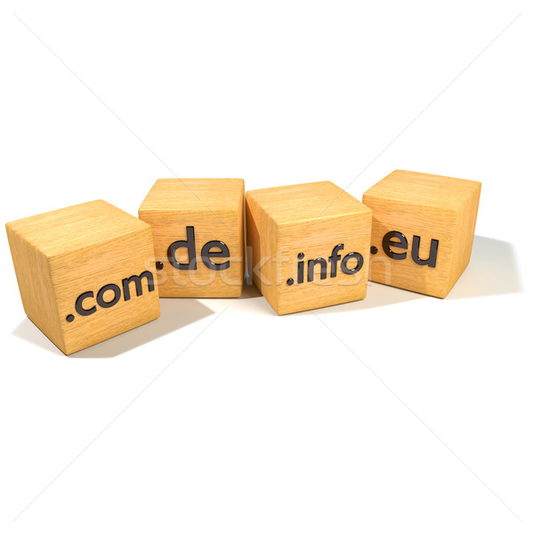 Dice with internet addresses and domains Stock photo © Ustofre9