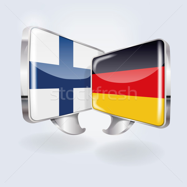 Bubbles and Speech in  Finnish and German Stock photo © Ustofre9