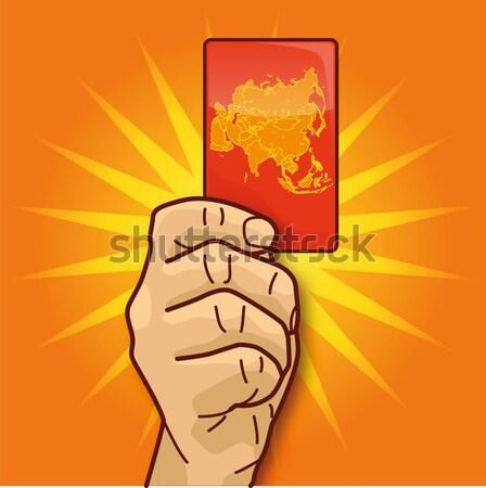 европейский азиатских стороны рукопожатие единения служба Сток-фото © Ustofre9