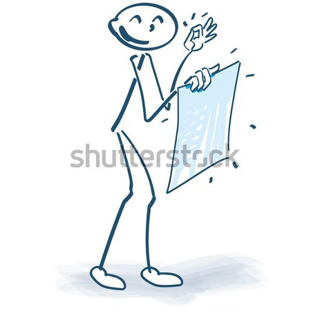 Stick figure with a ticks sign before the body Stock photo © Ustofre9