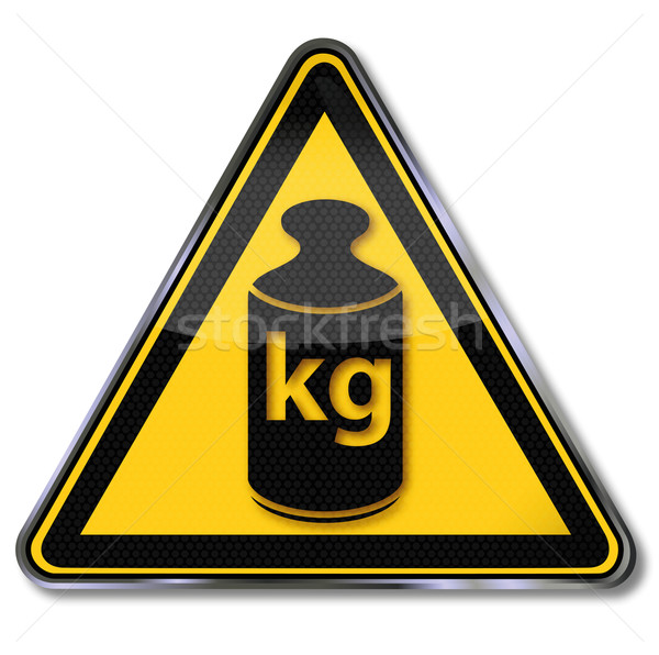 Sign weight and kilogram Stock photo © Ustofre9