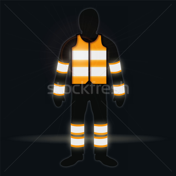 Man with waistcoat in the dark Stock photo © Ustofre9