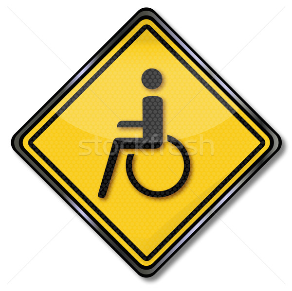 Segno sedia a rotelle disabilità help segni ambulanza Foto d'archivio © Ustofre9