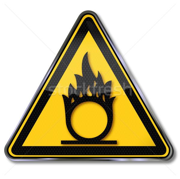 Warning sign of oxidants Stock photo © Ustofre9