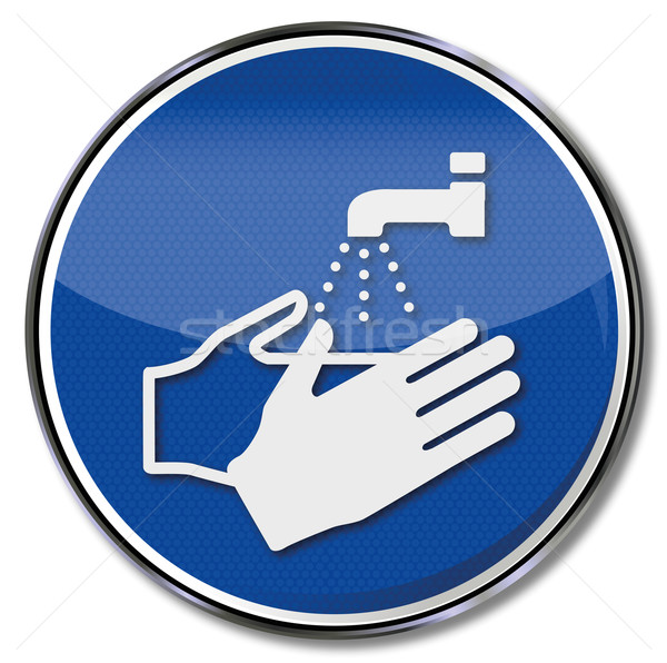 Mandatory sign please always wash hands Stock photo © Ustofre9