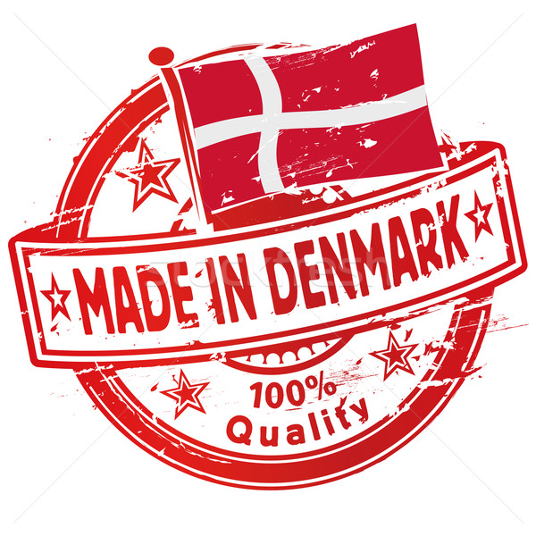 Rubber stamp made in Denmark Stock photo © Ustofre9