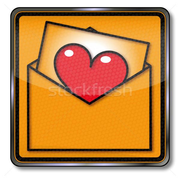 Felirat szeretet levél szív posta törvény Stock fotó © Ustofre9
