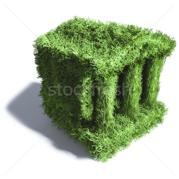Piccolo erba verde banca erba prato prato Foto d'archivio © Ustofre9