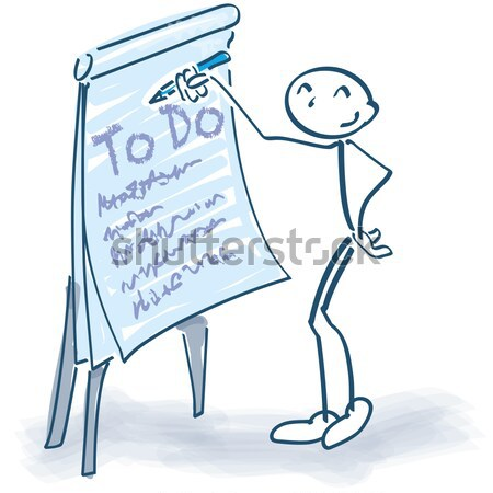 Stick figures with a note block Stock photo © Ustofre9