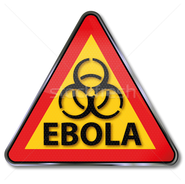 Warning sign in front of the ebola disease Stock photo © Ustofre9