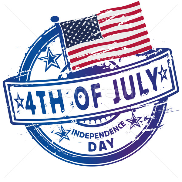 Rubber stamp fourth July and Independence Day Stock photo © Ustofre9