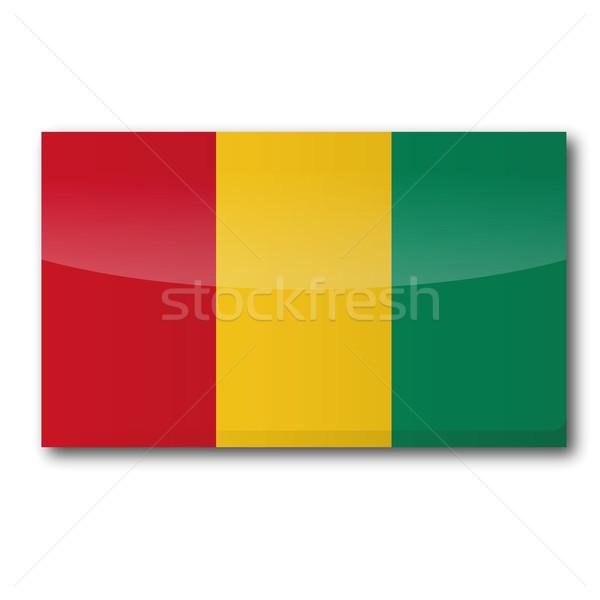 Bayrak Gine harita ülke düğme siyaset Stok fotoğraf © Ustofre9