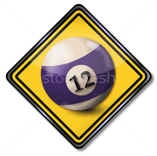 знак бильярдных мяча числа 12 признаков Сток-фото © Ustofre9