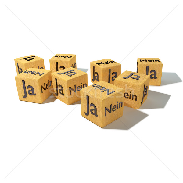 Wooden dice with Yes and No Stock photo © Ustofre9