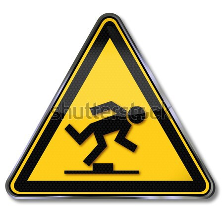 Danger sign pointed object  Stock photo © Ustofre9