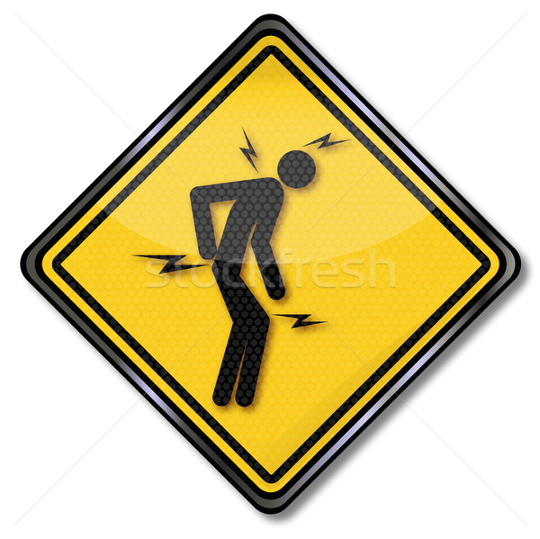 Warning sign man with pain  Stock photo © Ustofre9