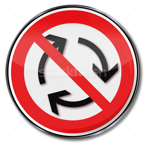 Prohibition sign for left-hand traffic Stock photo © Ustofre9