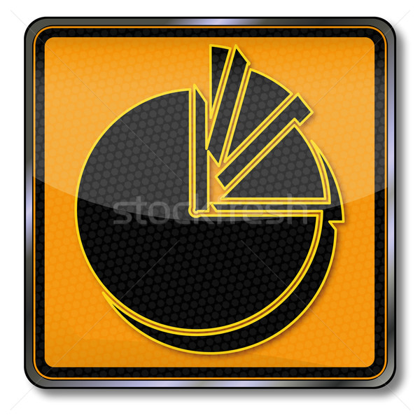 Plate with pie chart Stock photo © Ustofre9