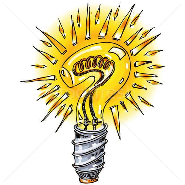 Question mark as a light bulb Stock photo © Ustofre9