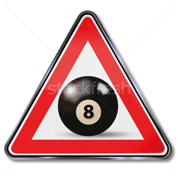 Сток-фото: знак · бильярдных · мяча · числа · черный · признаков