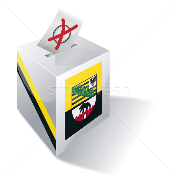 Stock photo: Ballot box Saxony-Anhalt