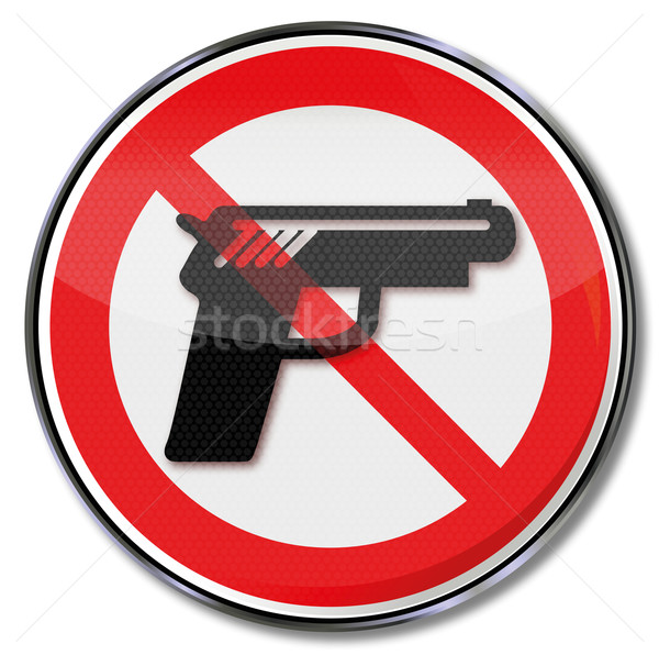 Sign no firearms Stock photo © Ustofre9