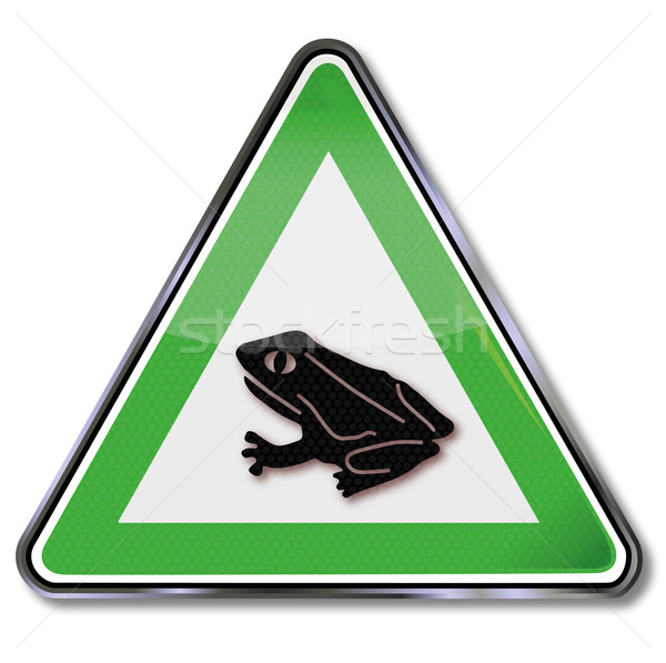 Traffic sign warning frog and toad migration Stock photo © Ustofre9