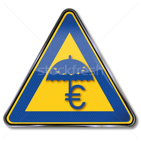 евро знак спасательные зонтик звезды звездой Сток-фото © Ustofre9