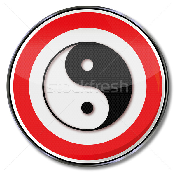 Sign yin and yang Stock photo © Ustofre9