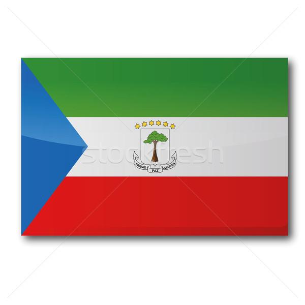 Flag Equatorial Guinea Stock photo © Ustofre9