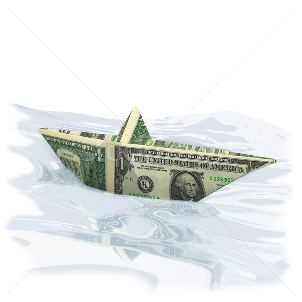 Paper boat with one Dollar Stock photo © Ustofre9