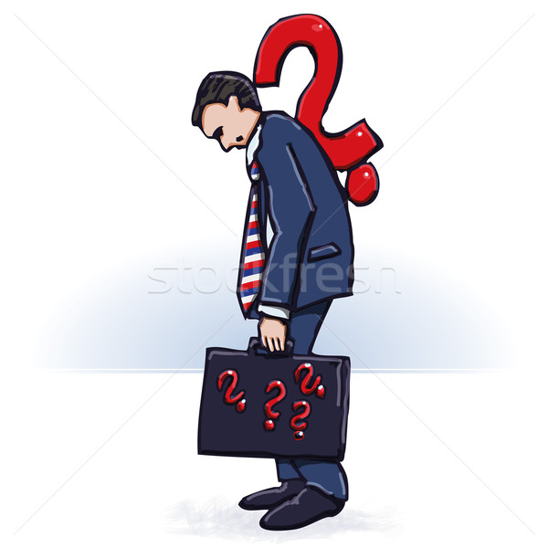 Businessman and many questions  Stock photo © Ustofre9