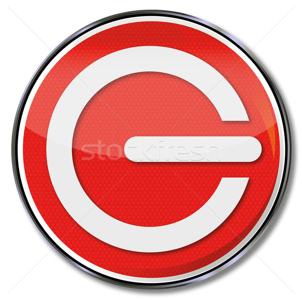 Stoppen knop teken Rood plaat energie Stockfoto © Ustofre9