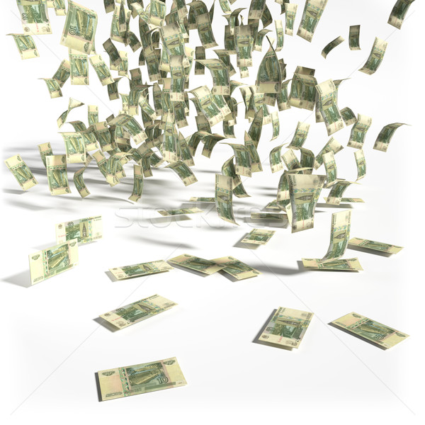 Money rain of 10 rubles bills Stock photo © Ustofre9